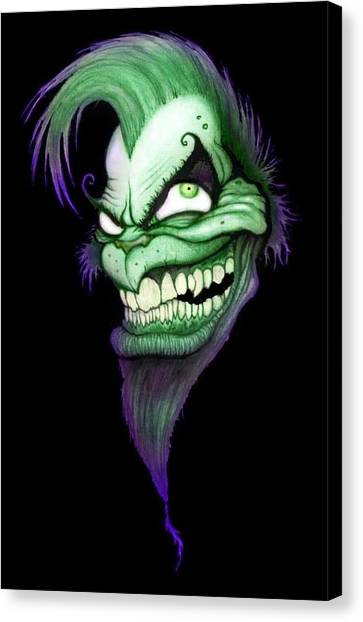 Grinch Canvas Print - You're A Mean One by Lance Shaffer