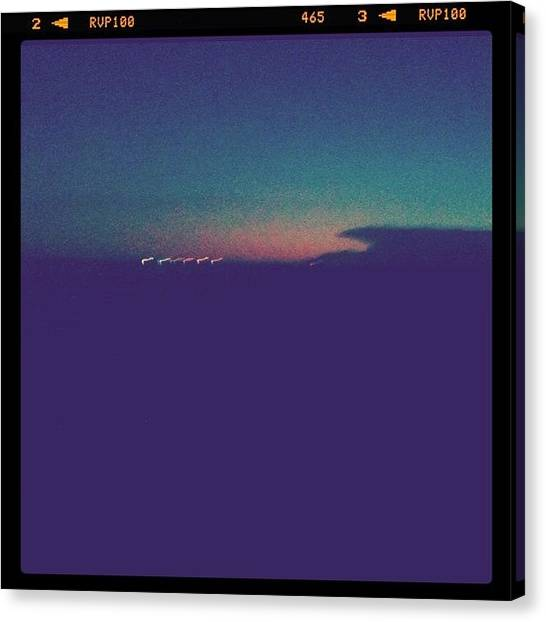 Knights Canvas Print - You've Got Some Gnarly Sunsets Kansas by Chels Knight