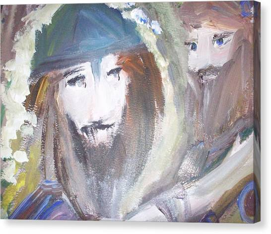 Youwash And Lwilldry Canvas Print by Judith Desrosiers