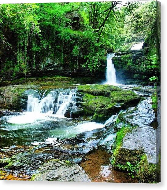 Waterfalls Canvas Print - Ystradfellte Falls - Brecon Beacons National Park by Steve James