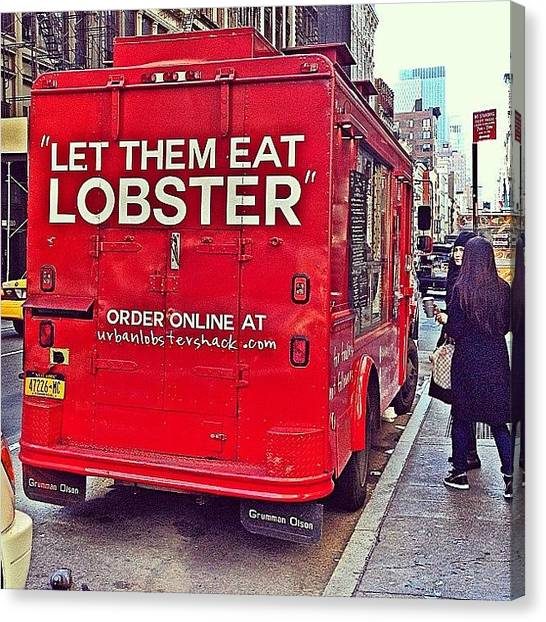 Lobster Canvas Print - Yum!!!! #lobstertruck #lobster #yum by Emily Hames