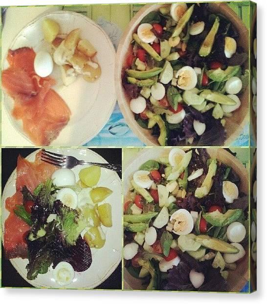 Medicine Canvas Print - Yummy Goodness #salad #fresh by Paul Petey