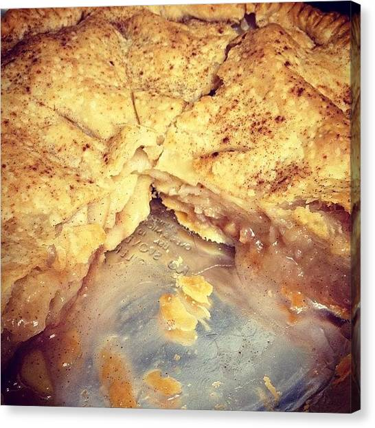 Thanksgiving Canvas Print - #yummy #homemade #applepie #delicious by Marian  Alleva