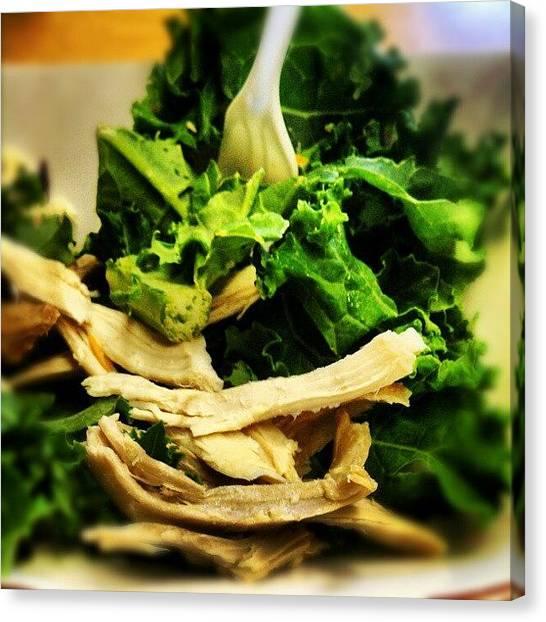 Lettuce Canvas Print - Yummy!! by Rachel Friedman