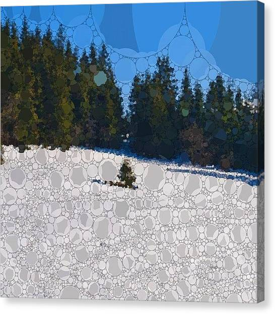 Snowboarding Canvas Print - Zakopane/with by Grigorii Arzhanykh
