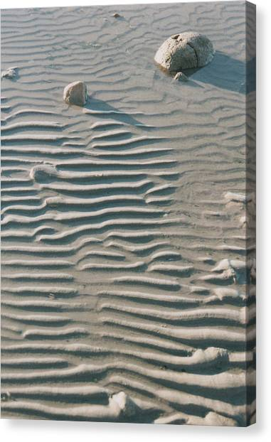 Zen Ripple And Rock Shore Canvas Print