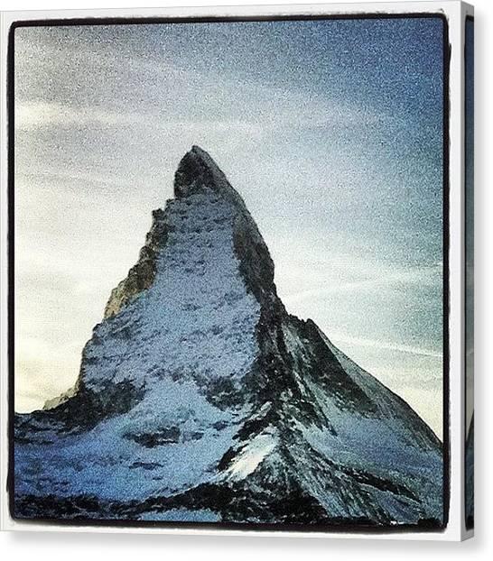 Matterhorn Canvas Print - #zermatt #switzerland #suisse #schweiz by Kareem Nour