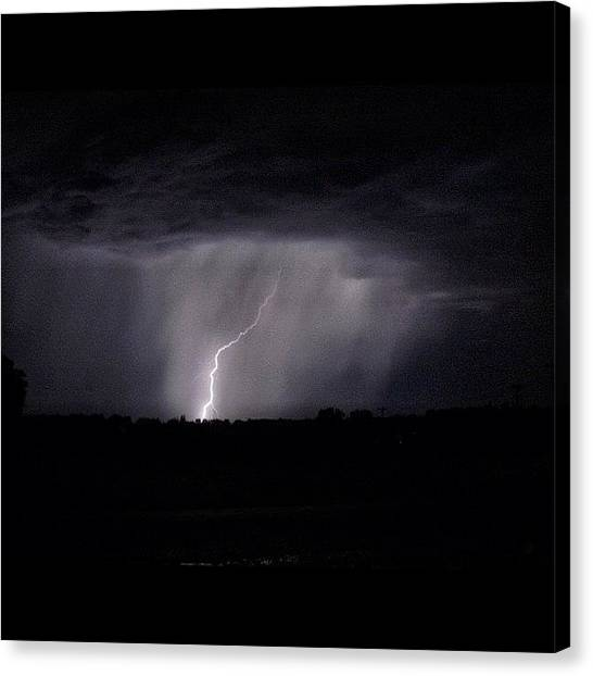 Arkansas Canvas Print - zeus On The Offensive #lightning by Roger Snook