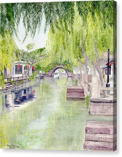 Zhou Zhuang Watertown Suchou China 2006 Canvas Print