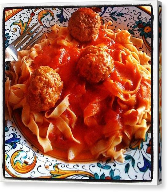 Spaghetti Canvas Print - Zia's Best Dish by Susan Smela