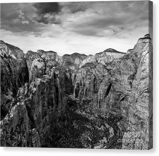 Zion National Park - View From Angels Landing Canvas Print
