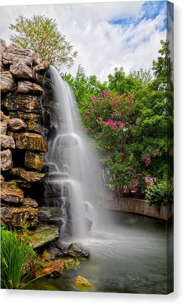 Zoo Waterfall Canvas Print
