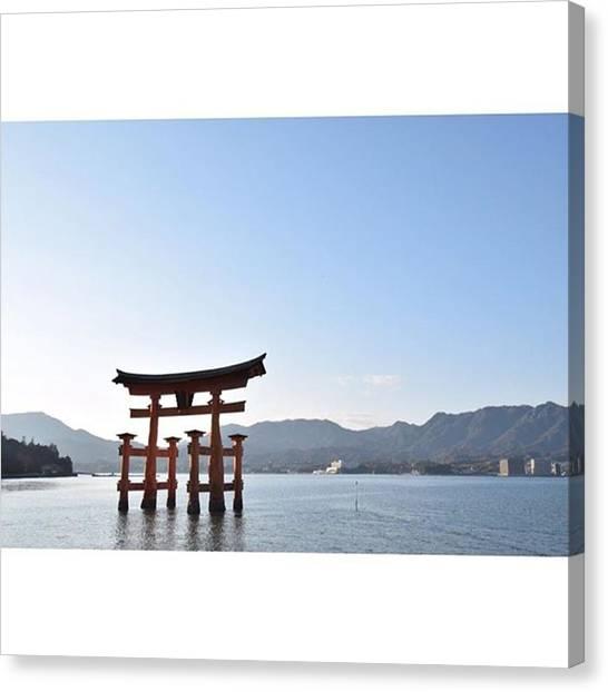 Samurai Canvas Print - #厳島神社 #宮島 #広島 #海 by Koki Takezawa