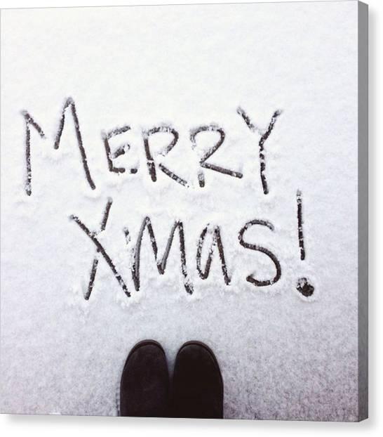 South Dakota Canvas Print - Merry Christmas by Britni Hemmer