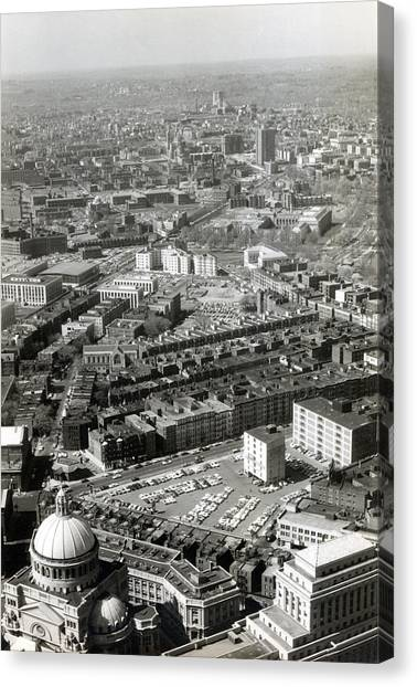 Northeastern University Canvas Print -  1965 Aerial View Of Boston No.1 by Historic Image