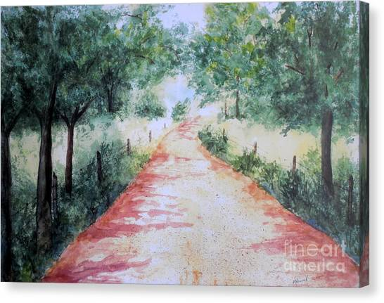 A Country Road Canvas Print
