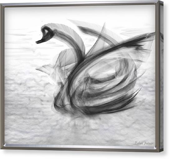 'a Fabric-ated Swan Melody ' Canvas Print