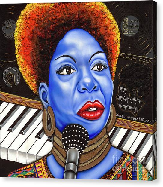 A Part Of Nina Simone Canvas Print by Nannette Harris