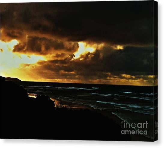 A Stormy Sunrise Canvas Print