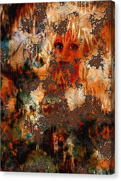 Abstract Woman And Dove Canvas Print by Patricia Motley