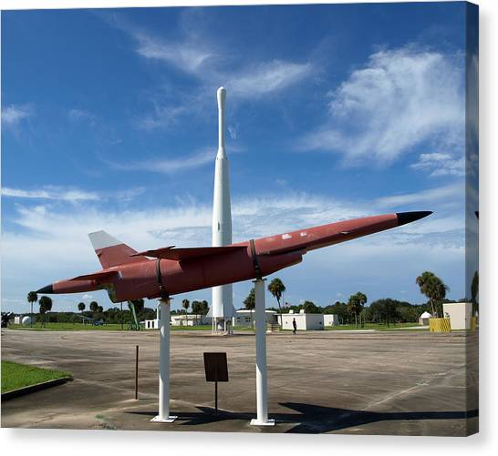Missles Canvas Print -  Air Force Museum At Cape Canaveral  by Allan  Hughes