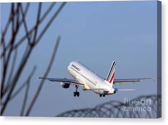 Air France Airbus A320 - Msn 491-002 - F-gjvw  Canvas Print