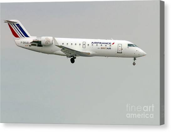 Air France By Britair Canadair- Msn 7321- F-grjq  Canvas Print