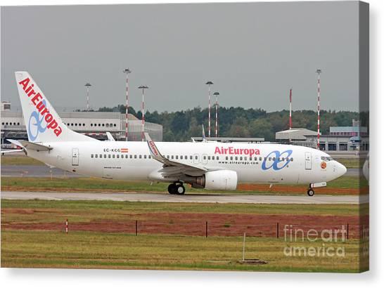 Aireuropa - Boeing 737-800 - Ec-kcg  Canvas Print