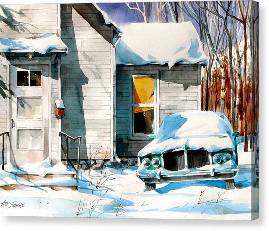 Another Snow Day Canvas Print by Art Scholz