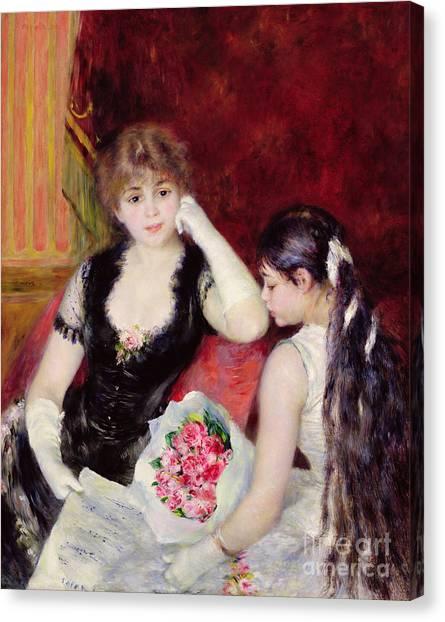 Pierre-auguste Renoir Canvas Print -  At The Concert by Pierre Auguste Renoir