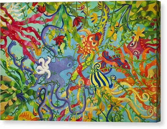 Fish Tanks Canvas Print - Ocean Of Colors by Art Spectrum