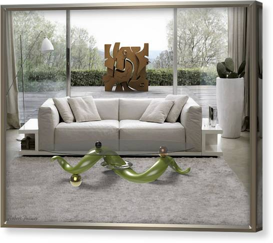 ' Azteca Scape ' And 'a Twisted Table ' Canvas Print
