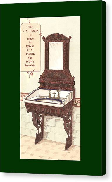 Bathroom Picture Wash Stand Two Canvas Print