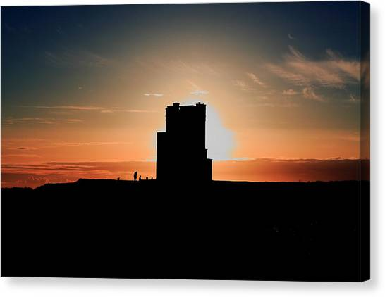 The Cliffs Of Moher Canvas Print -  Brien's Tower At Sunset by Aidan Moran
