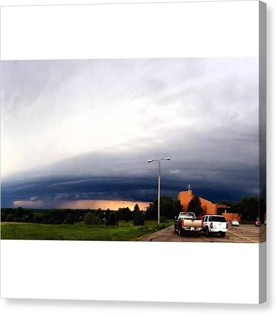 South Dakota Canvas Print - Super Cell Storm by Britni Hemmer