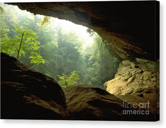 Cave Entrance In Ohio Canvas Print