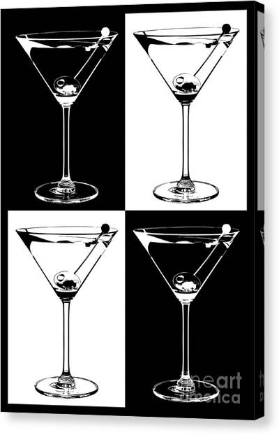 Gin Canvas Print -  Classic Martini  by Jon Neidert