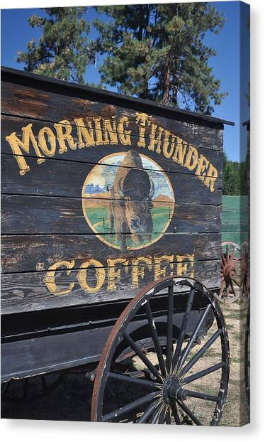 Coffee Wagon Canvas Print by Brent Easley