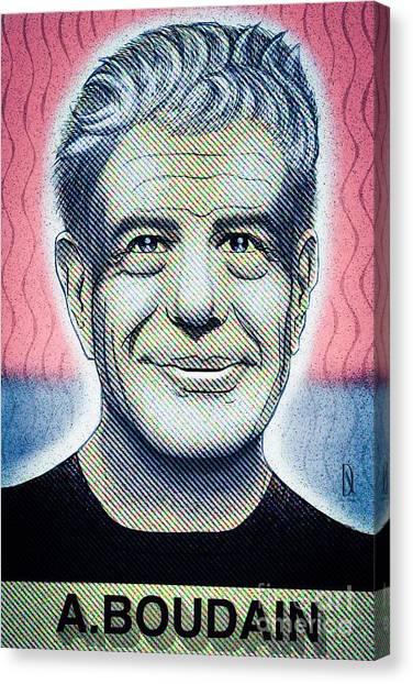Commemoration  Of Anthony Boudain  Canvas Print by Don Nitram aka Martin G Macias