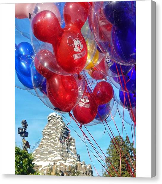 Matterhorn Canvas Print - 🎈🎈🗻🎈🎈 #disneyland by Stephanie Aiello