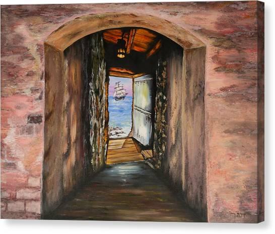 Door Of No Return Canvas Print by Tony Vegas