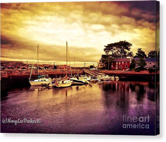 Down At The Dock Canvas Print