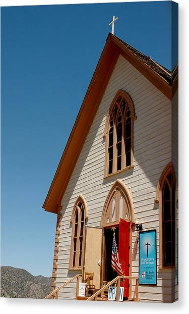 Desert Canvas Print -  Episcopal Church  by LeeAnn McLaneGoetz McLaneGoetzStudioLLCcom