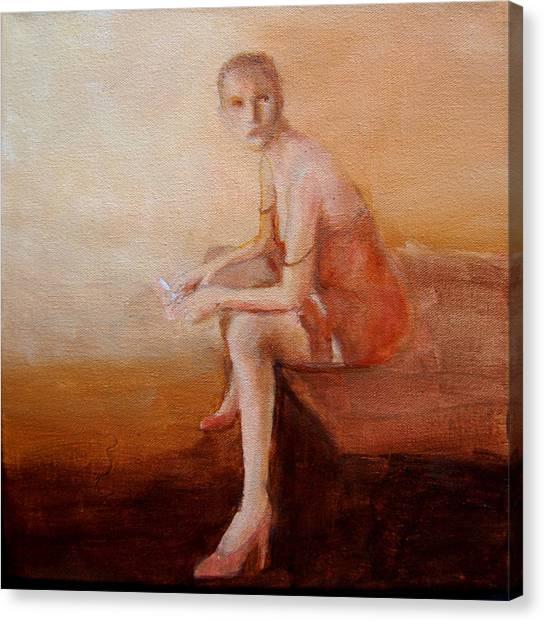Female Feel-male Gaze Canvas Print by Jea DeVoe