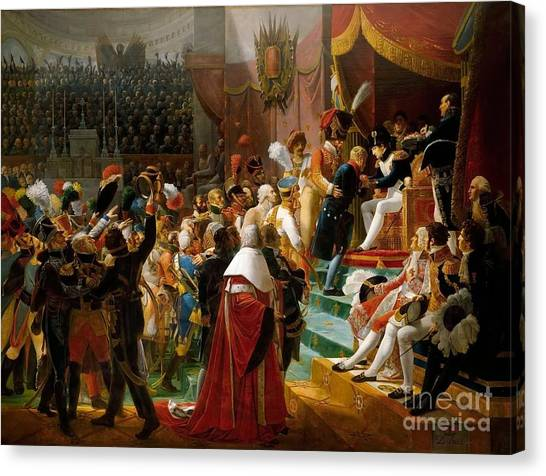 The Legion Canvas Print -  First Distribution Of The Legion Of Honor by MotionAge Designs