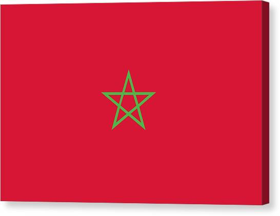 Moroccon Canvas Print -  Flag Of Morocco by Unknown