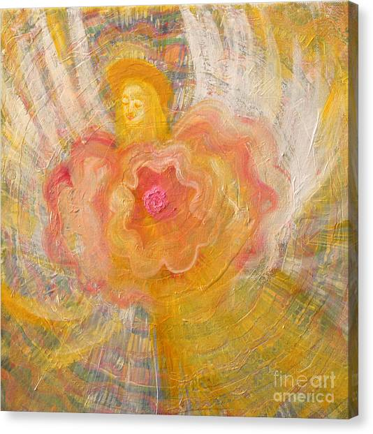 Canvas Print -  Flower Angel by Anne Cameron Cutri