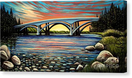 Folsom Bridge Canvas Print