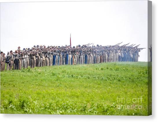 Gettysburg Confederate Infantry 0157c Canvas Print