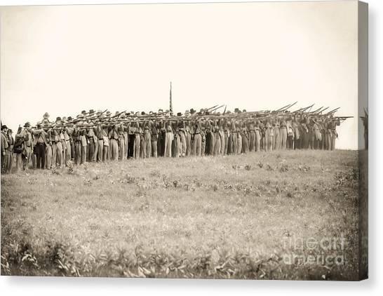 Gettysburg Confederate Infantry 0157s Canvas Print